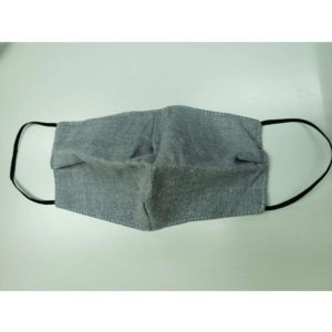 棉麻口罩-灰色